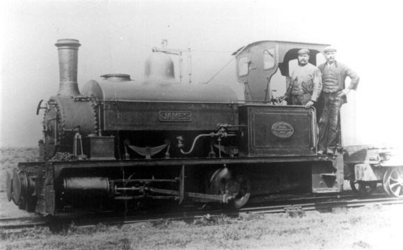Historic saddle tank on