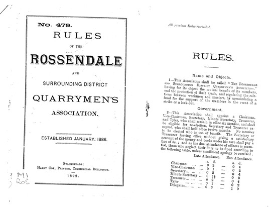 Example of Quarrymen's Rules